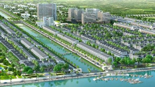 Phoi Canh Du An Green Sailing Town Long An